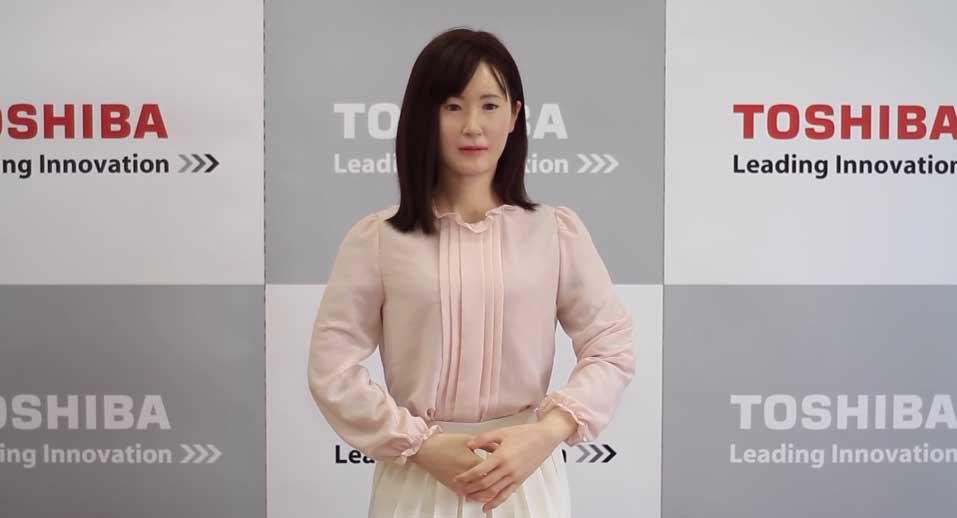 robot humanoide toshiba japon
