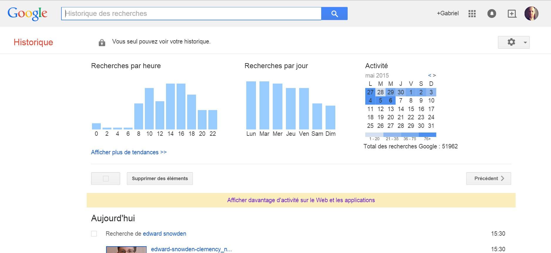comment effacer l u0026 39 historique de recherche google et supprimer vos traces