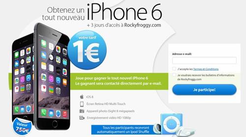 iphone 6 un euro arnaque