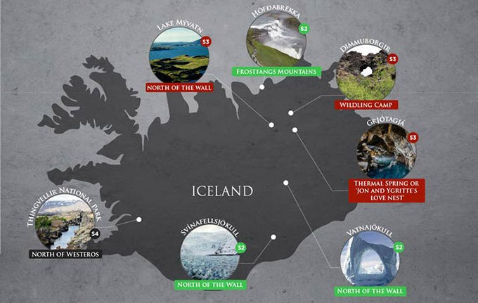 game of thrones lieu reel tournage islande