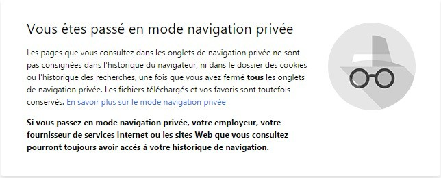 navigation privee incognito chrome