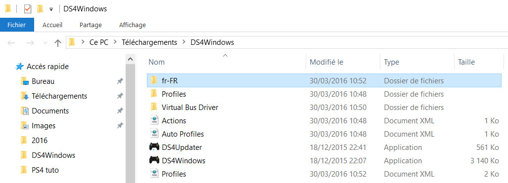 ds4 windows traduction francais
