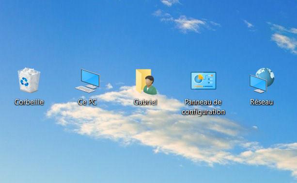 windows 10 comment afficher icone bureau