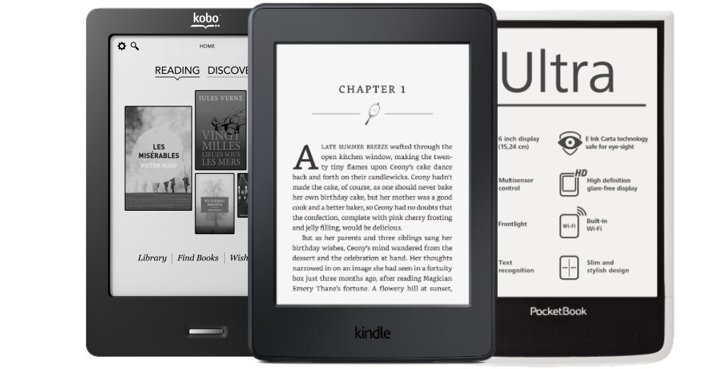 Comparatif liseuses 2016 : Kindle et Kobo vs. concurrence
