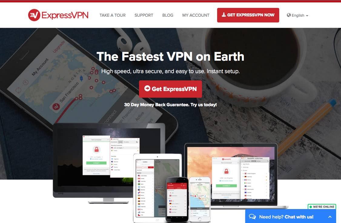 ExpressVPN : au servoice de la vitesse de connexion