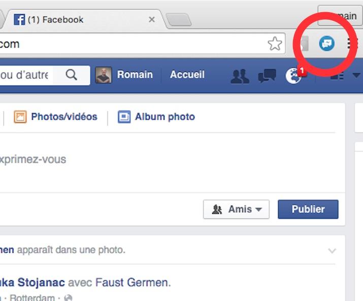 Icône Facebook Unseen Chrome