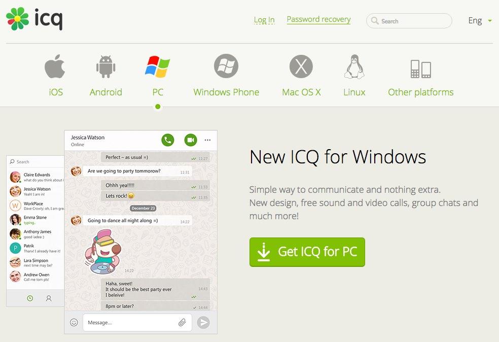 ICQ a complètement fait peau neuve