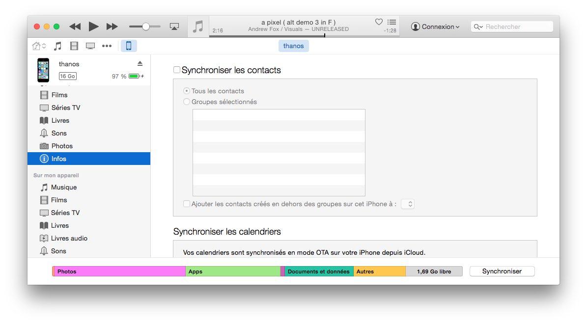 iphone / itunes : désynchronisez vos contacts icloud