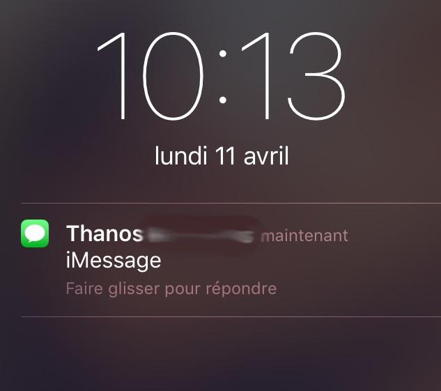 Fini l'aperçu du message dans les notifications !