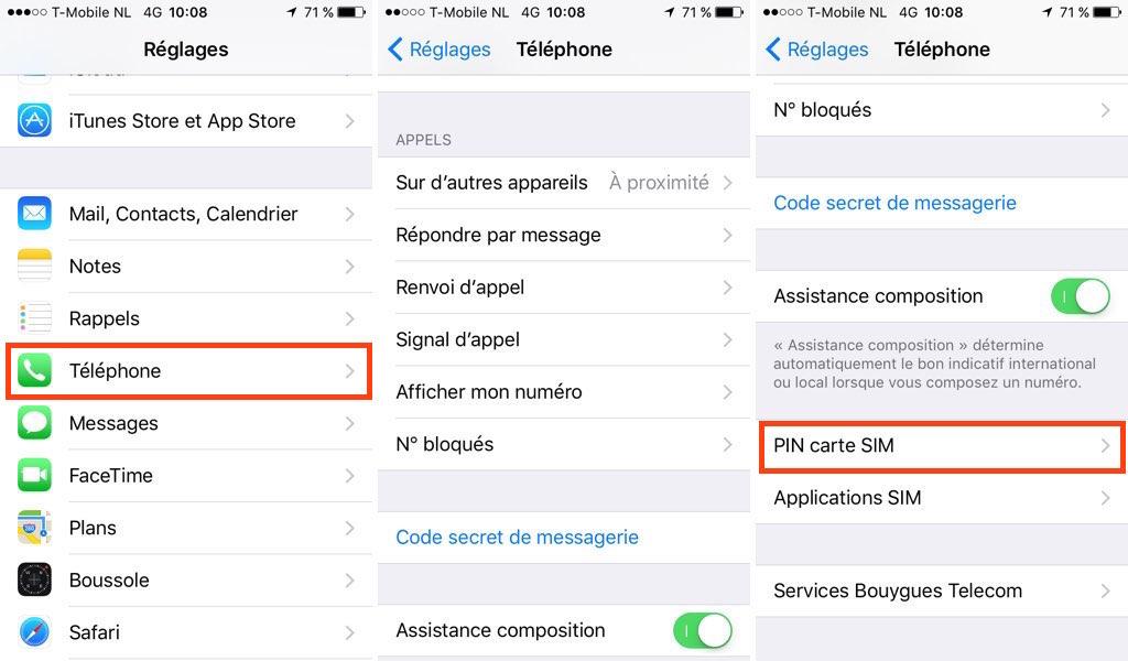 Comment changer le code PIN de l'iPhone ?
