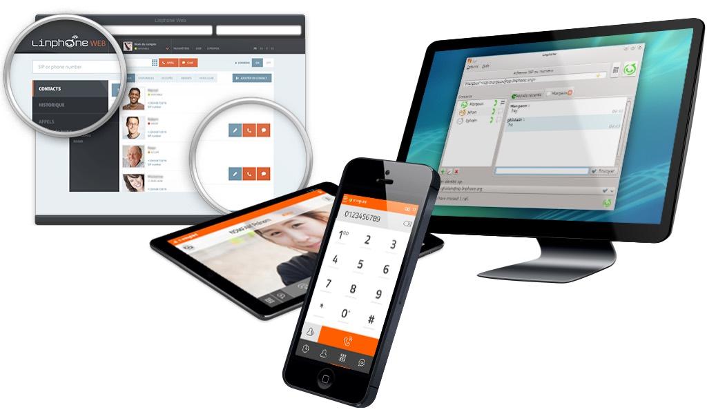 Linphone est disponible sur toutes les plateformes