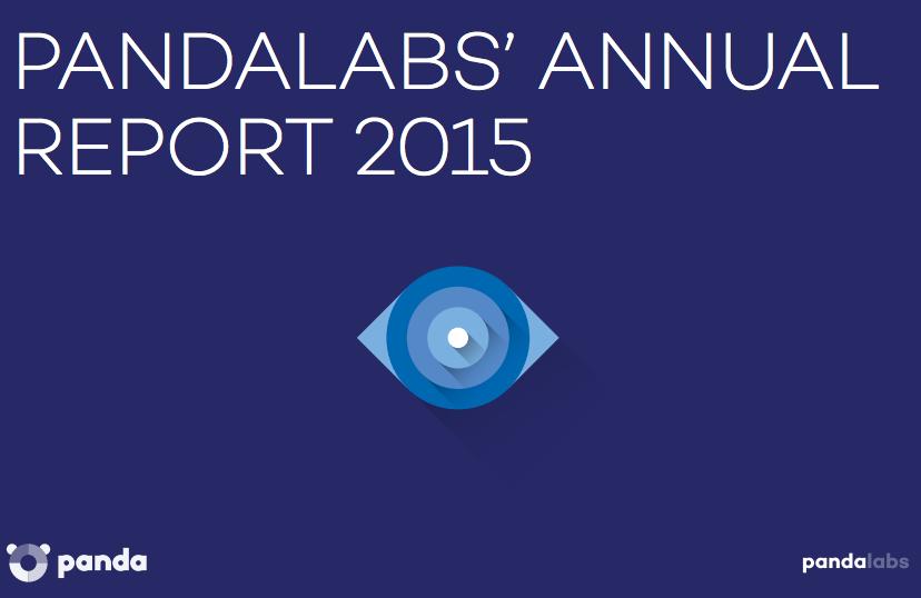 La page de couverture du rapport 2015 de l'entreprise en sécurité informatique PandaLabs