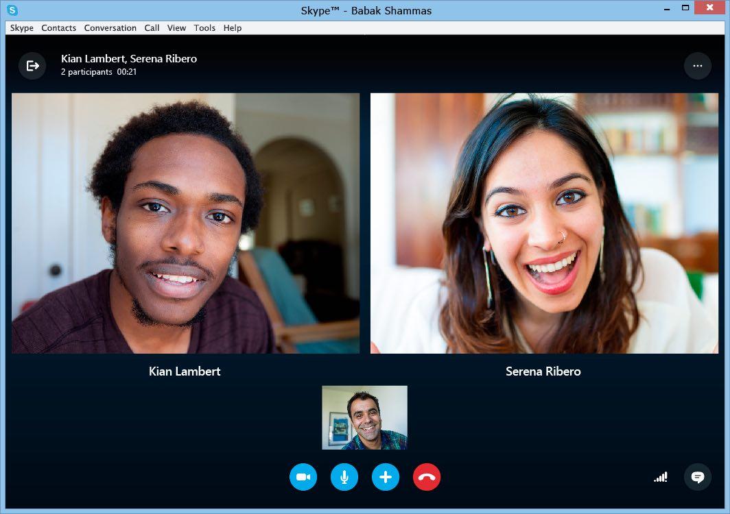Session de visioconférence Skype
