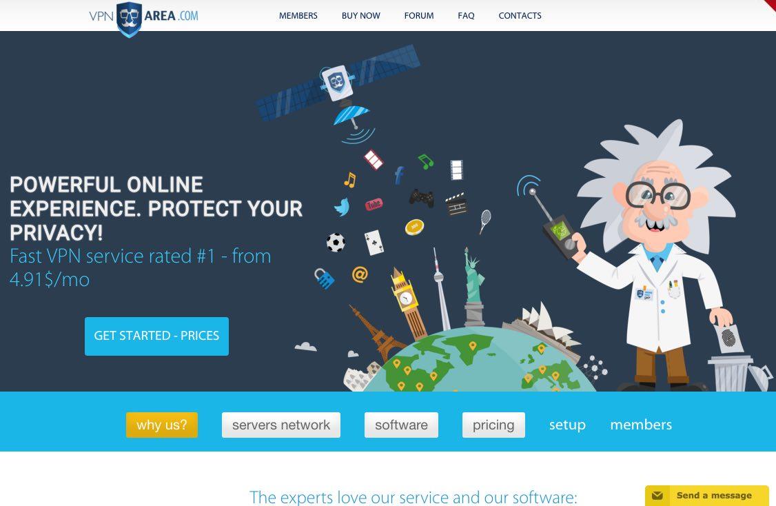 VPNArea, un service basé en Bulgarie