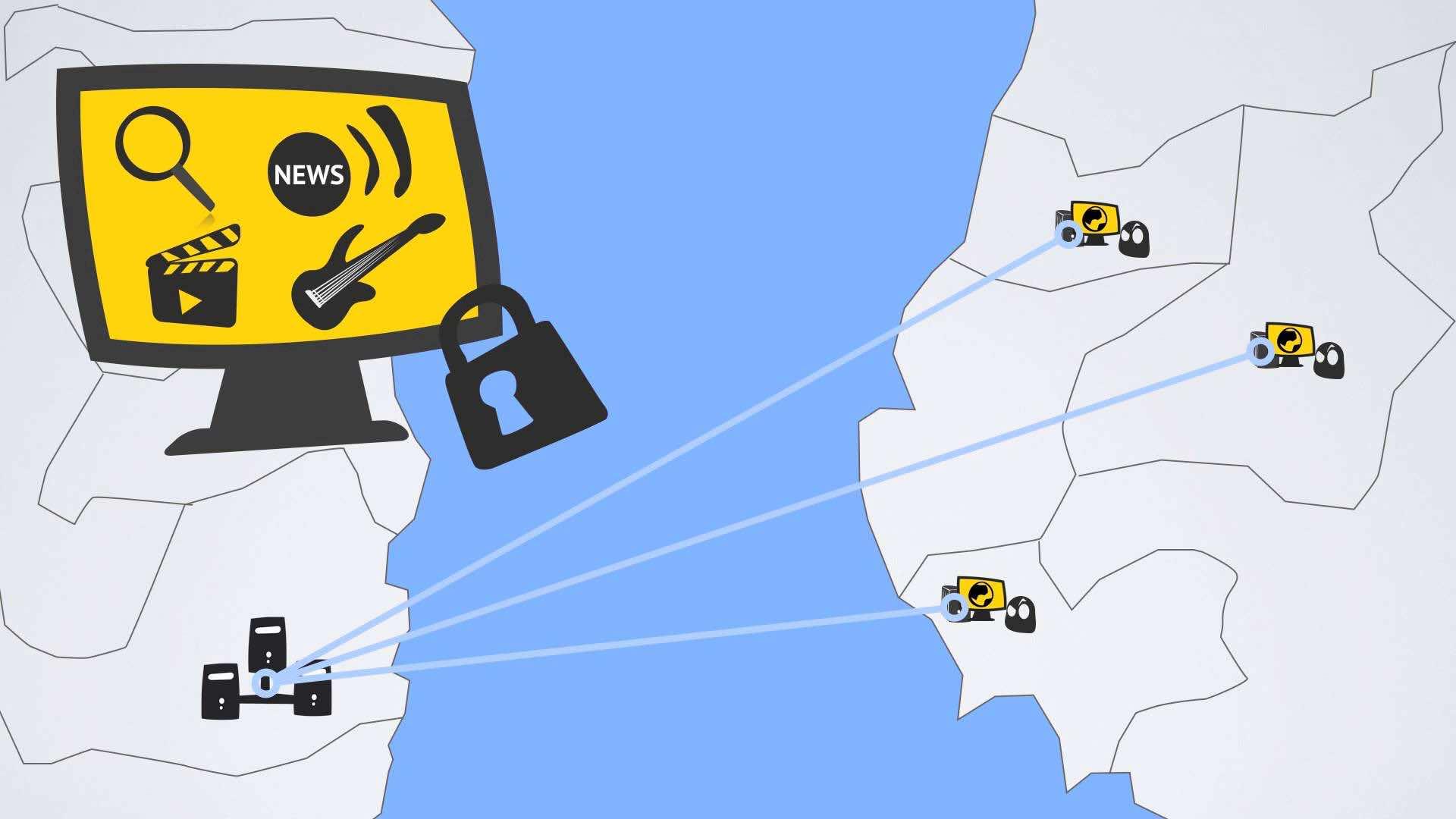 Le fonctionnement d'un tunnel VPN (source: youtube)