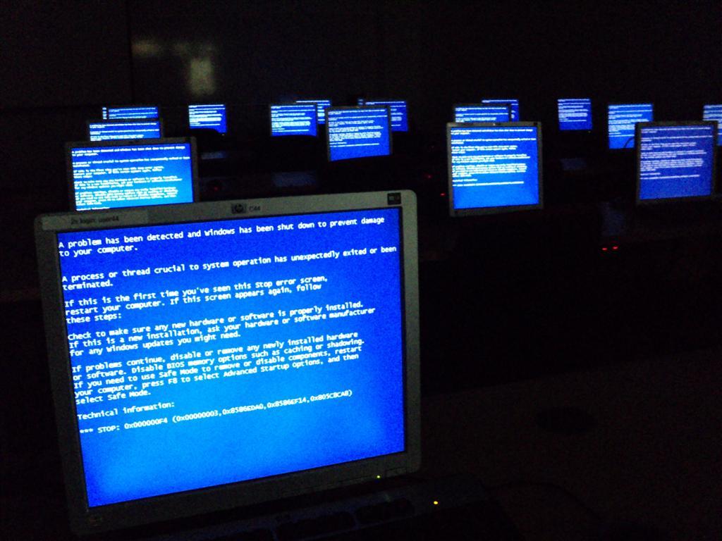 """Les fameux """"écrans bleus"""" de Windows"""