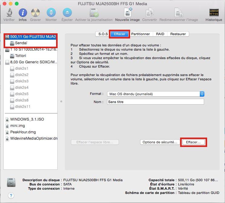pc mac formater disque dur