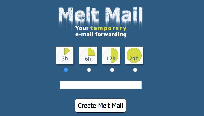 Entrez votre adresse mail rélle dans le champ, choisissez une durée - une adresse factice va s'afficher : c'est elle que vous donnerez à vos destinataires !