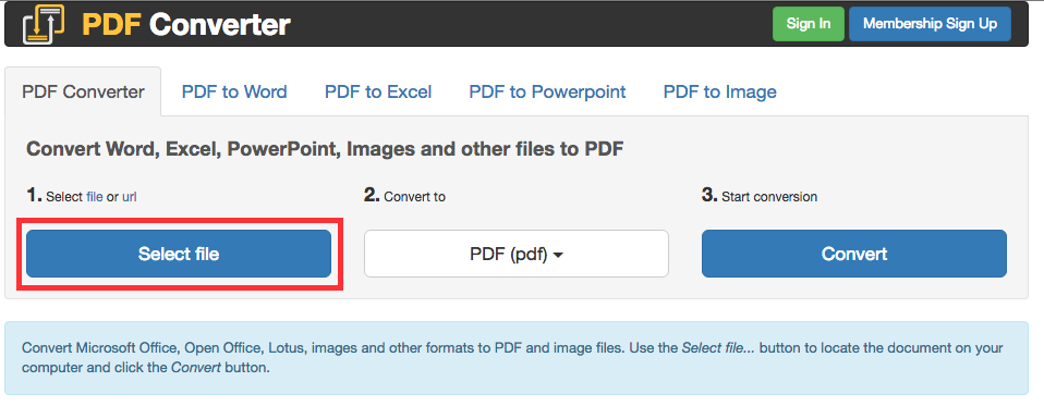 Le site pdfconverter.com