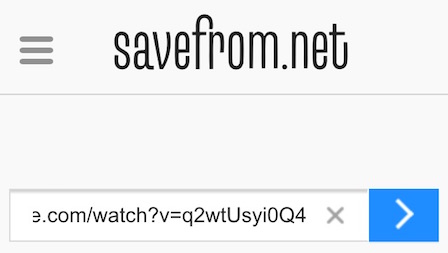 Savefrom.net youtube download