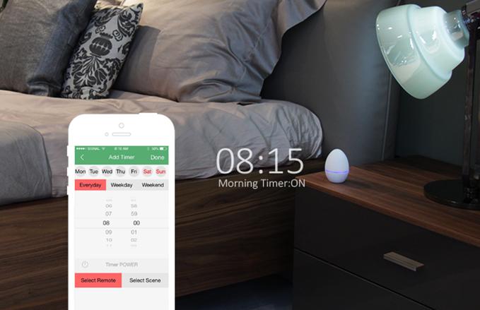 Le Smart Egg peut également faire office de réveil !